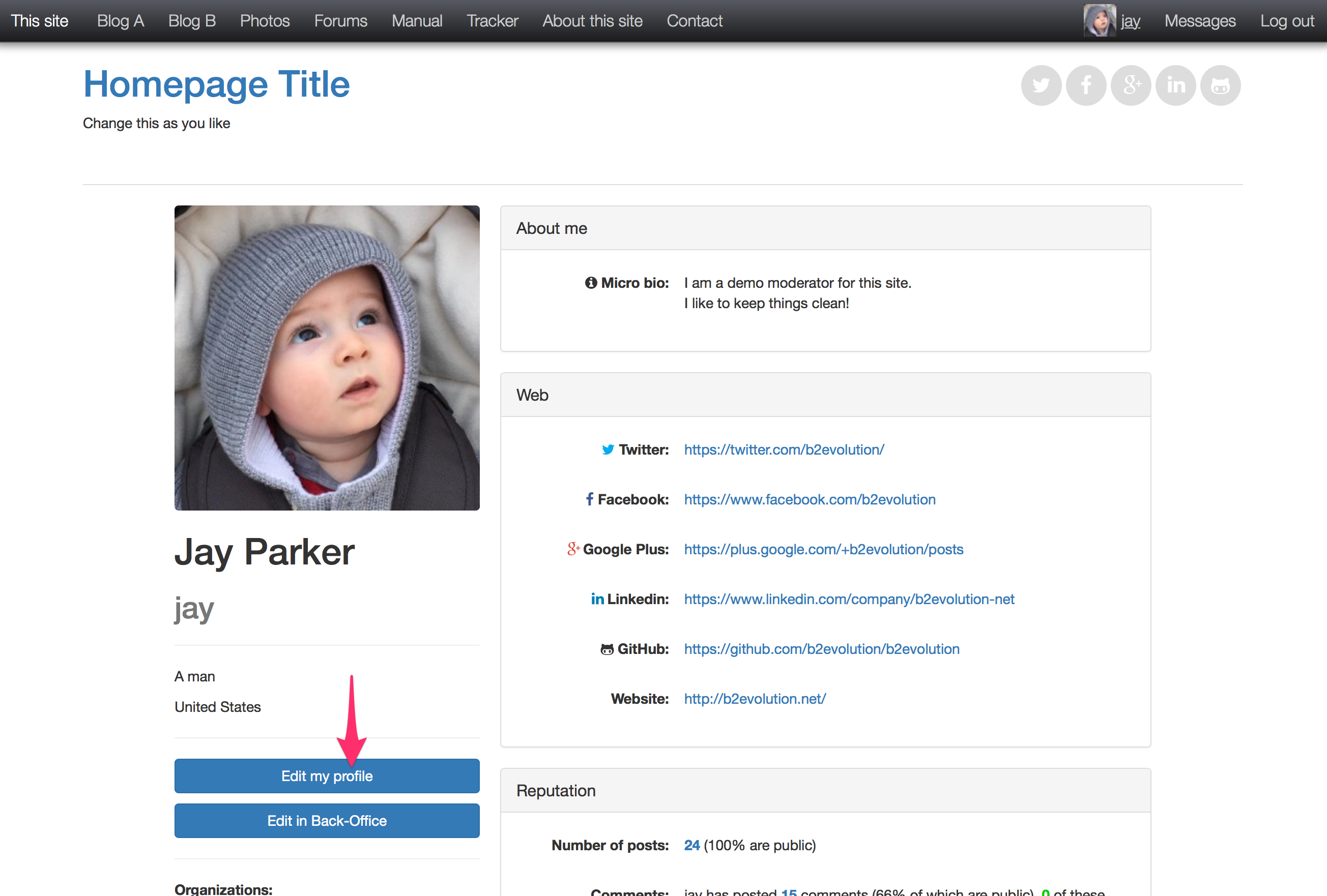 to View & Edit your User Profile