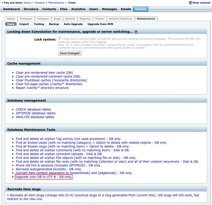 Upgrading your database to UTF-8
