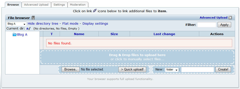 Uploading and Posting Files/Images