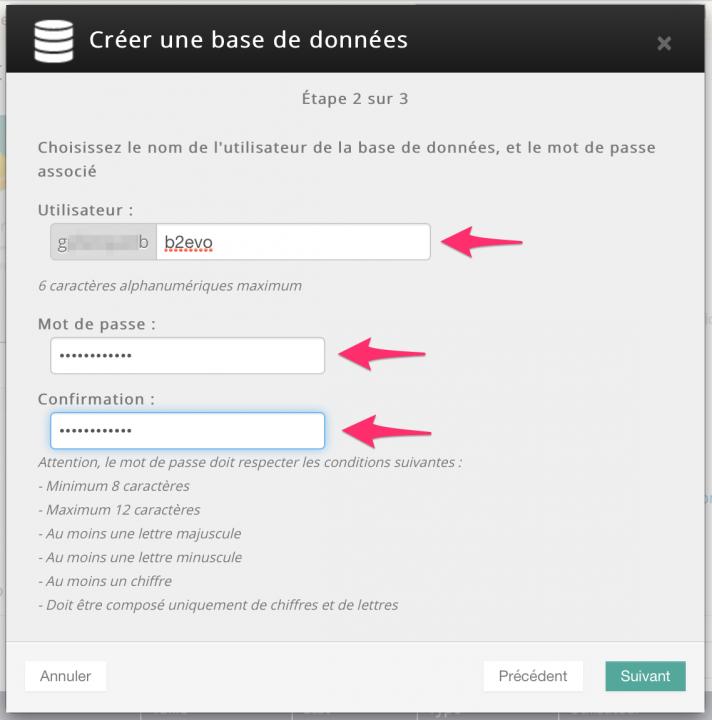 OVH.com - Creating a database