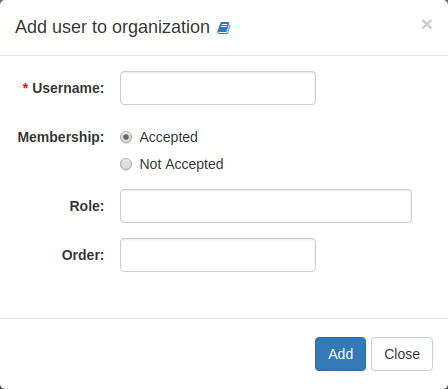 Organization: Adding Members
