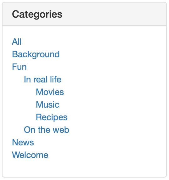 Category List Widget