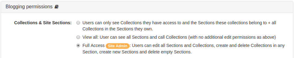 Collection Admin