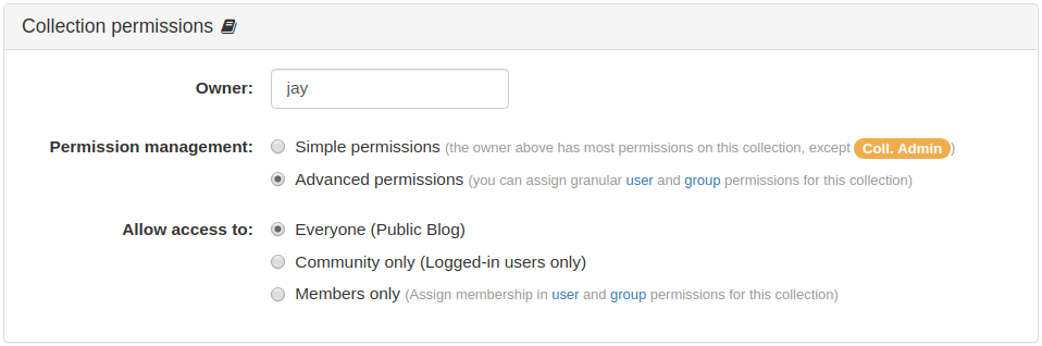 Collection Permissions