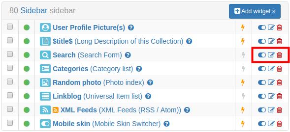Widget List