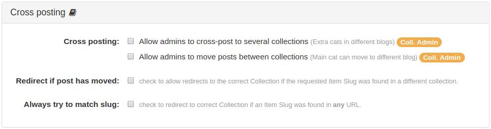 Cross posting