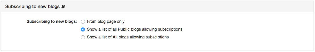 Subscribing to new blogs