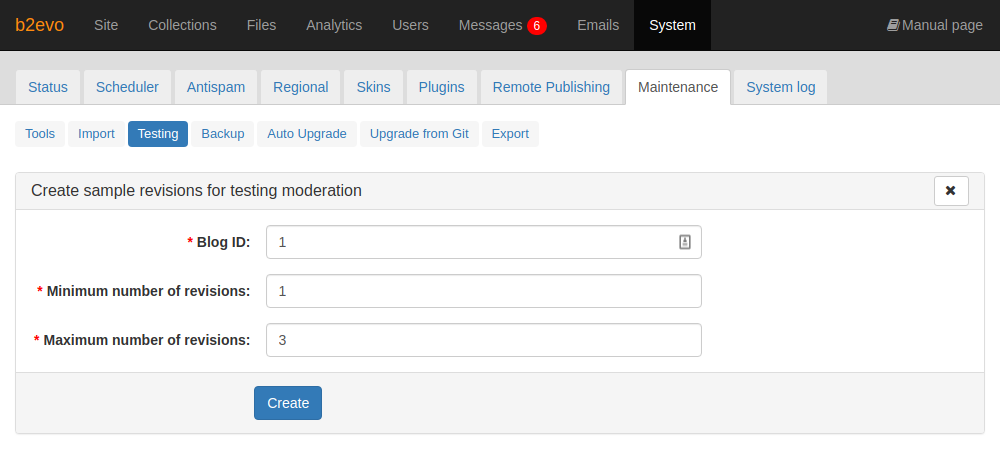 Create Sample Post Revisions Tool