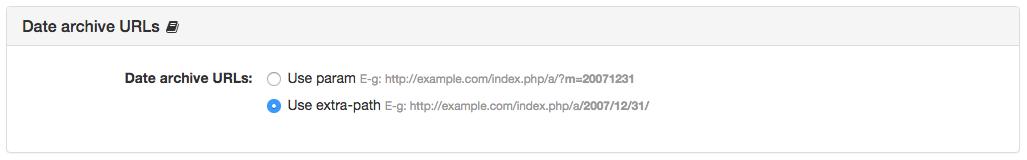 Date archive URLs