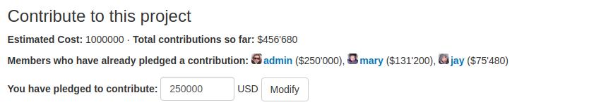Financial Contribution Widget