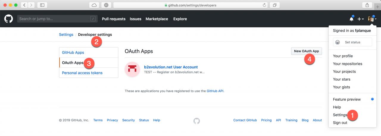 Getting a GitHub API key