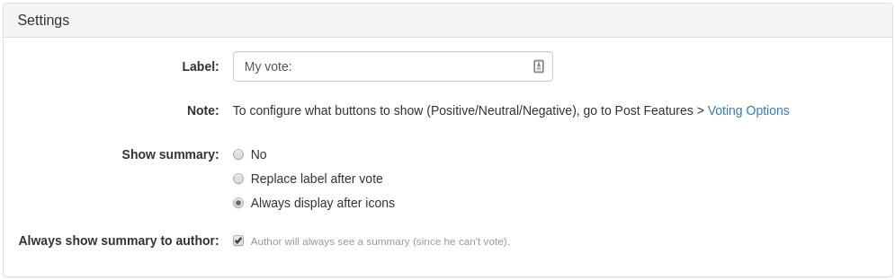 Item Votes Widget