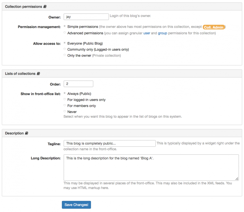 Changing title & description in the BackOffice