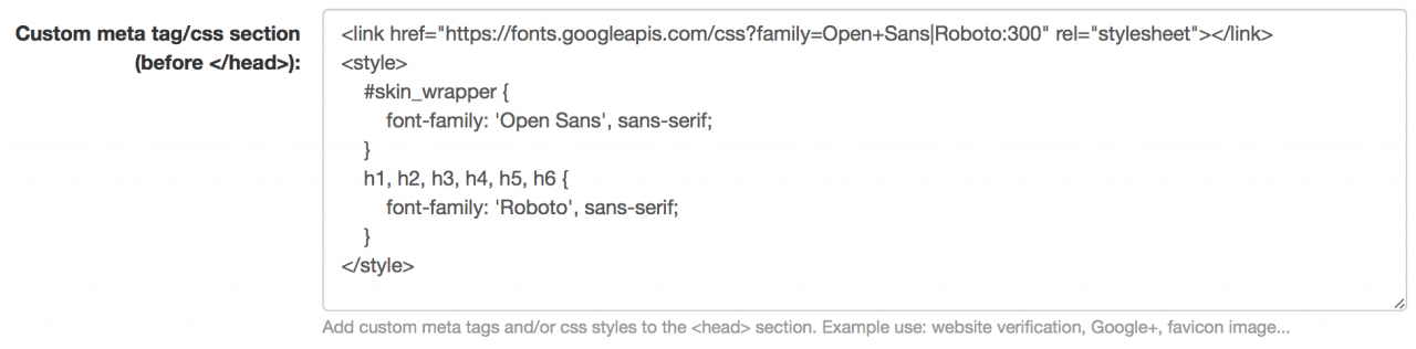 How to add a Google Font (WebFont) ?