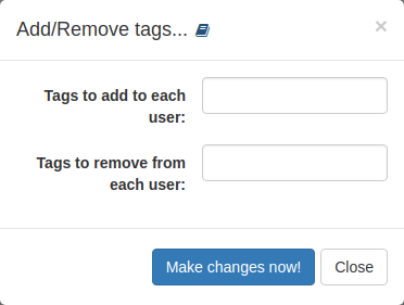 List action: Add/Remove tags