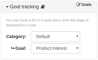 Item Goal Tracking Panel