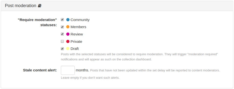 Post Moderation Panel