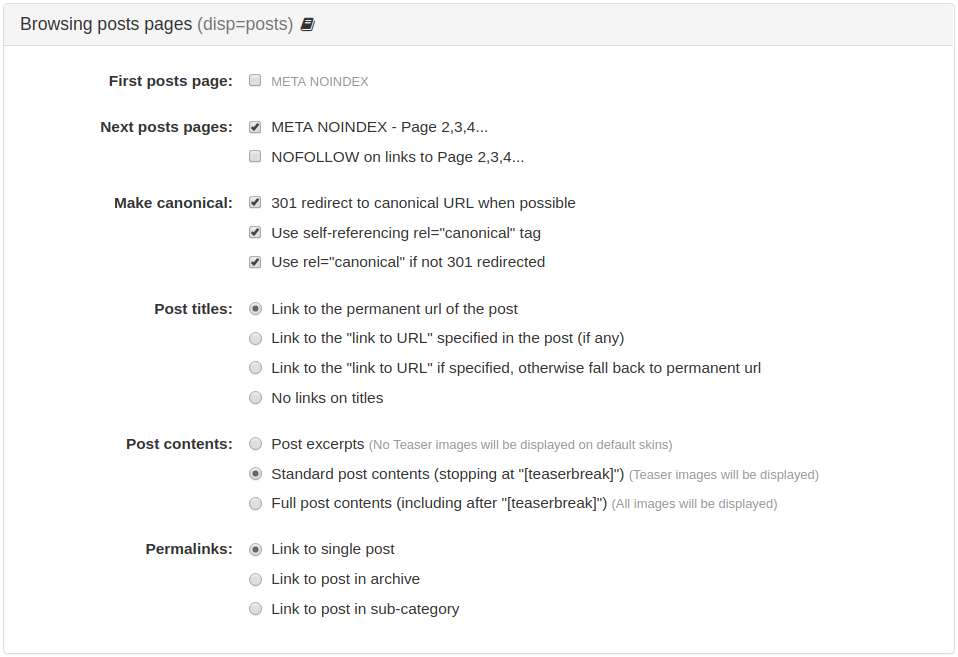 Browsing posts pages (disp=posts)