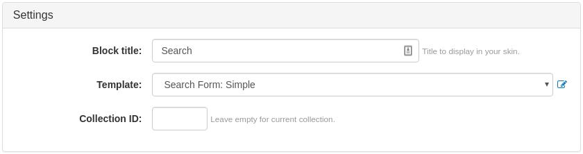 Search Form Widget