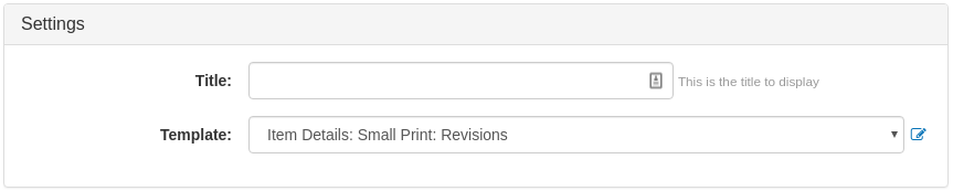 Small Print Widget