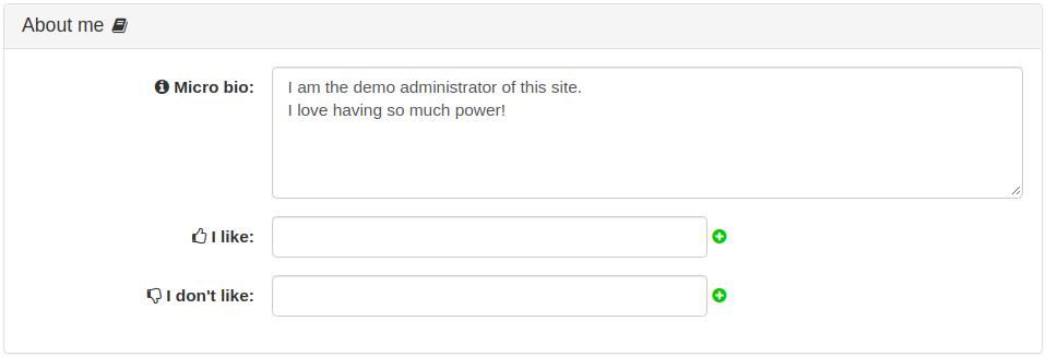 User Fields Panels