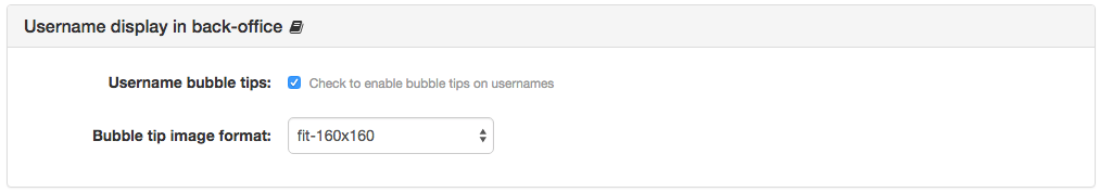 Username Display Settings