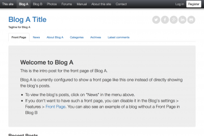 Multiple blogs done right!